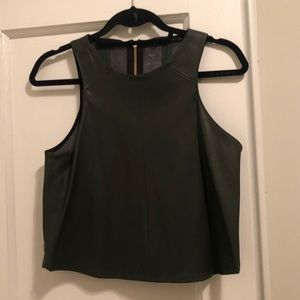 Zara Faux Leather Shell Top